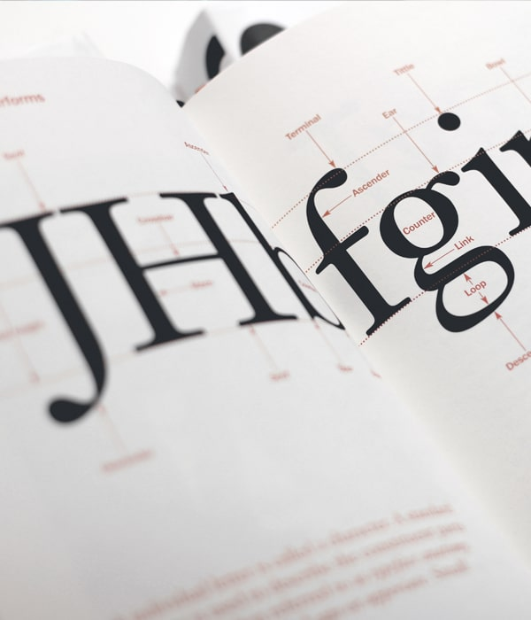 typography book image for graphic design service